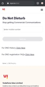 How to activate DND in vodafone