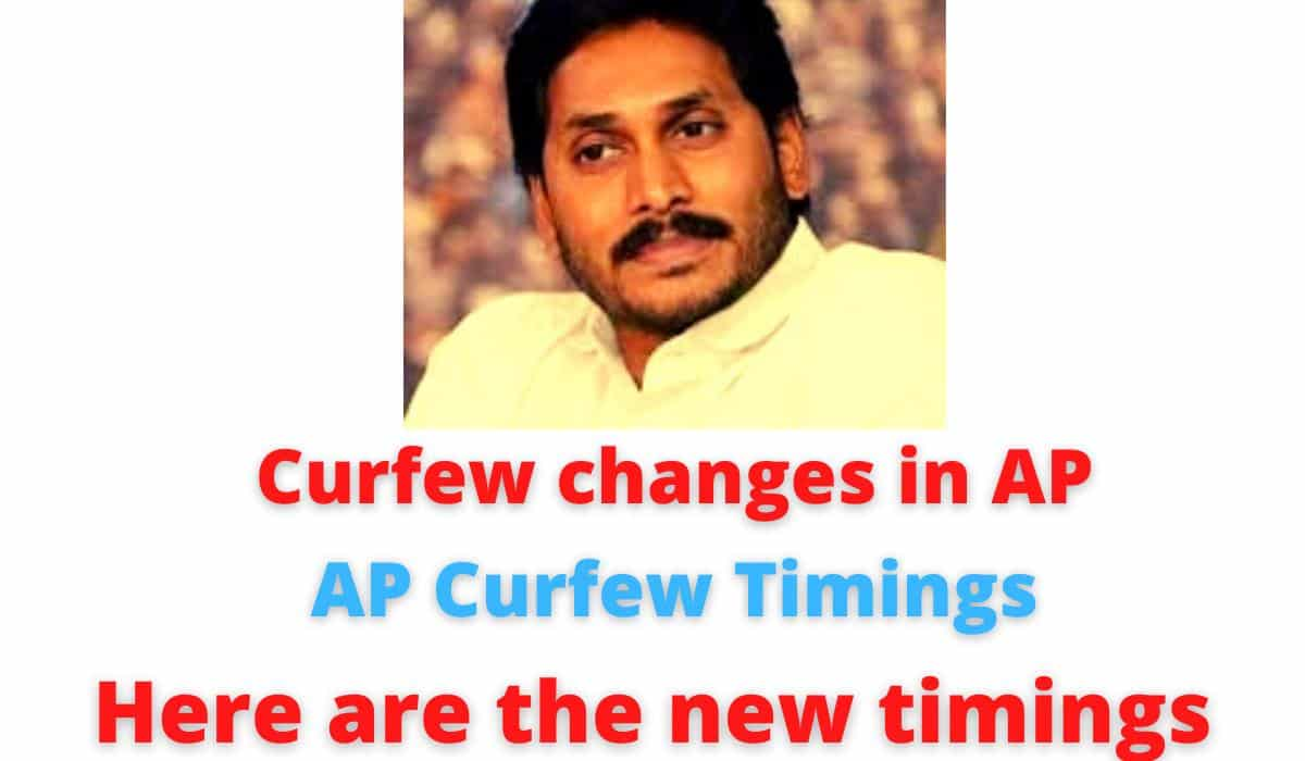 Curfew changes in AP | AP Curfew Timings | Here are the new timings | CM Jagan made the crucial decision.