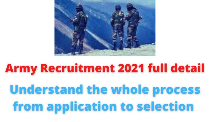 Army Recruitment 2021 full detail   Understand the whole process from application to selection.