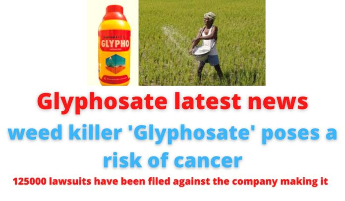 Glyphosate latest news: weed killer 'Glyphosate' poses a risk of cancer | 125000 lawsuits have been filed against the company making it.