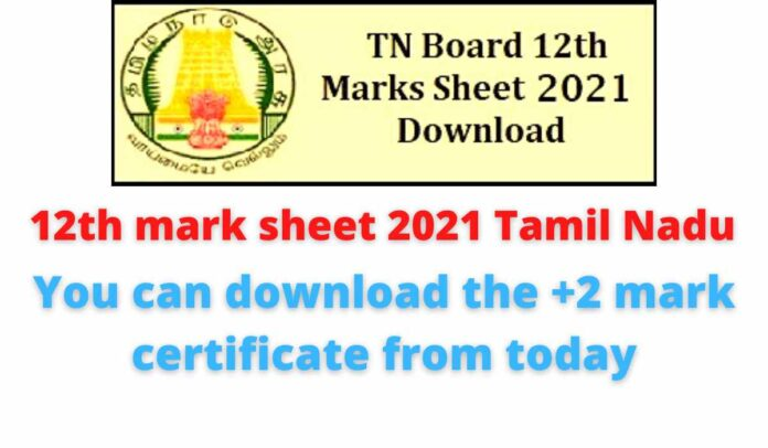 12th mark sheet 2021 Tamil Nadu: You can download the +2 mark certificate from today.