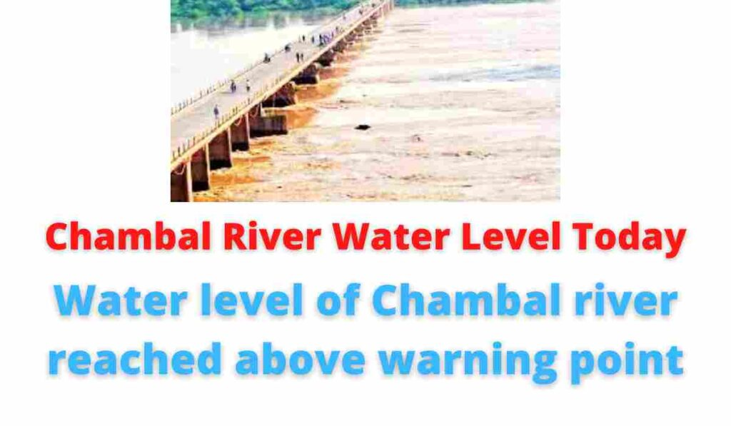 Chambal River Water Level Today: Water level of Chambal river reached above warning point.