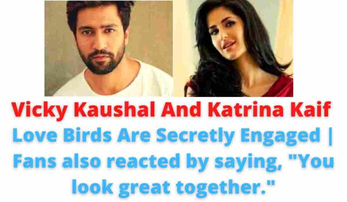 Vicky Kaushal And Katrina Kaif: Love Birds Are Secretly Engaged | Fans also reacted by saying,