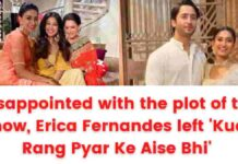 Disappointed with the plot of the show, Erica Fernandes left 'Kuch Rang Pyar Ke Aise Bhi'.