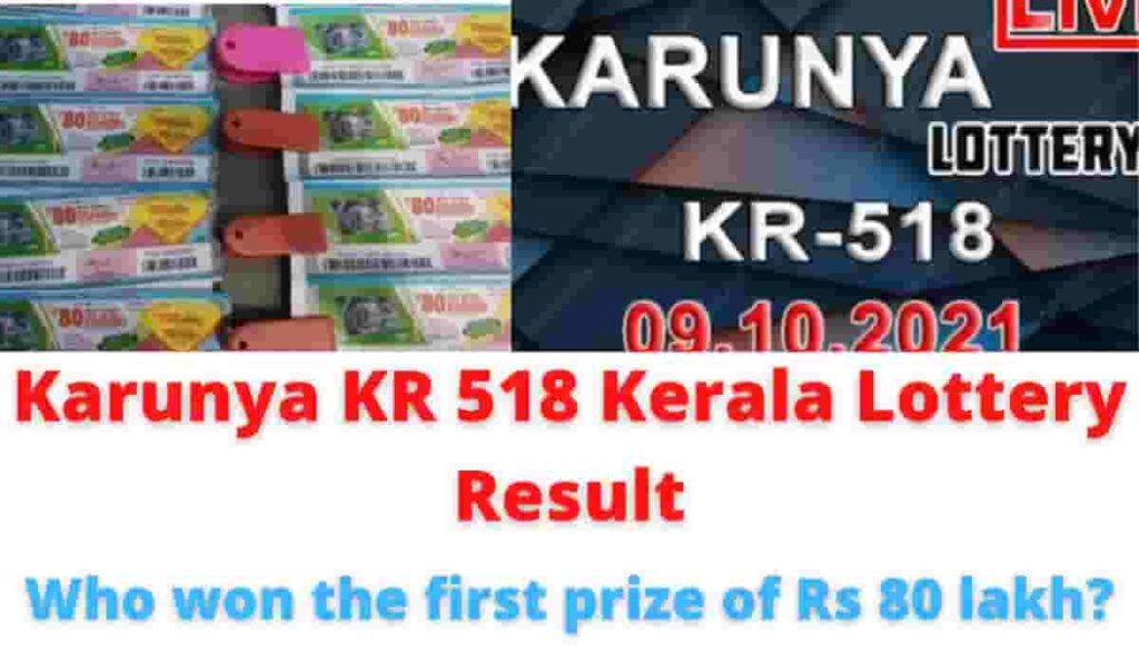 Karunya KR 518 Kerala Lottery Result: Who won the first prize of Rs 80 lakh?.